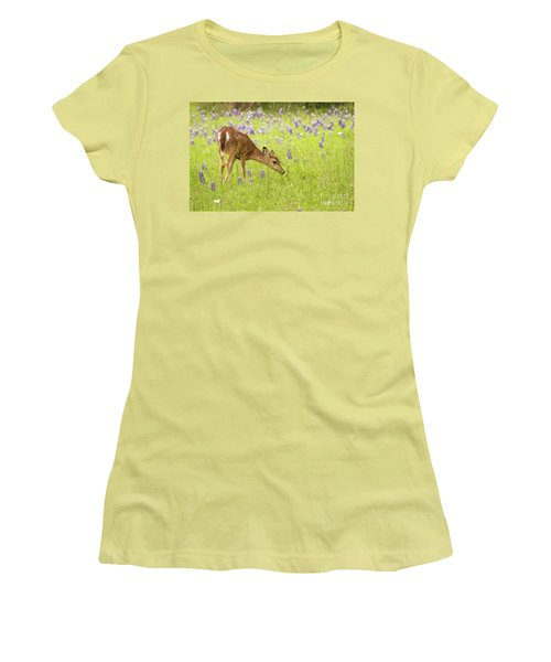 Stop And Smell The Bluebonnets. Women's T-Shirt (Athletic Fit)