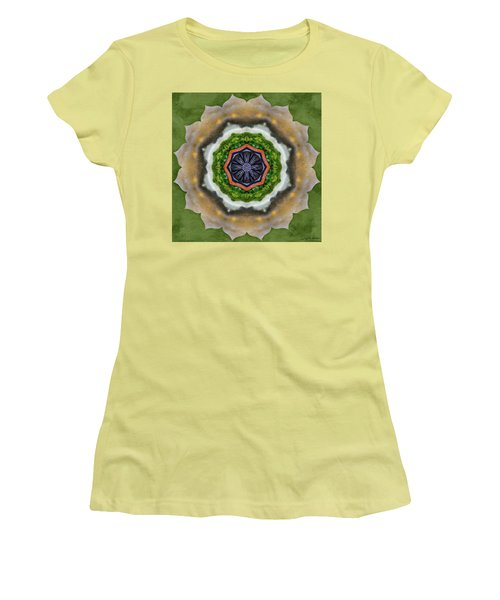Women's T-Shirt (Junior Cut) featuring the painting Storm Above by Jeff Kolker