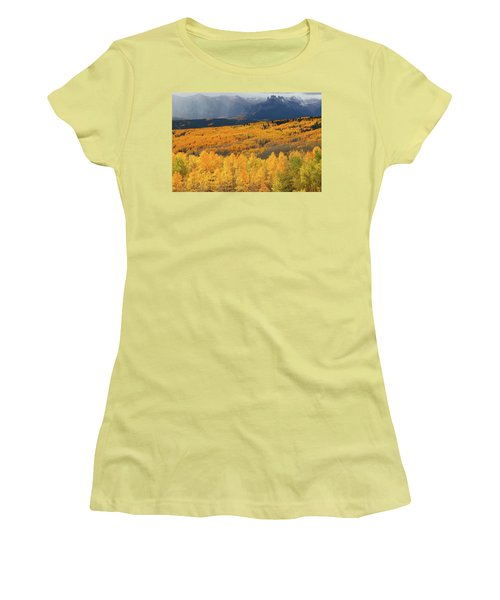 Storm At Ohio Pass During Autumn Women's T-Shirt (Athletic Fit)