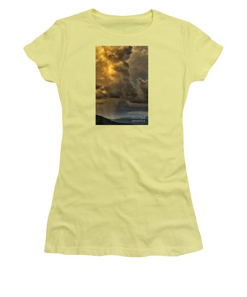 Storm Couds And Mountain Shower Women's T-Shirt (Junior Cut) by Thomas R Fletcher