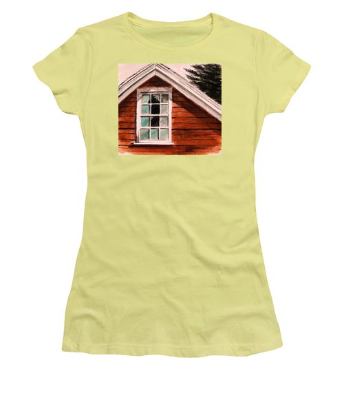 Women's T-Shirt (Junior Cut) featuring the painting Storm Damage by John Williams