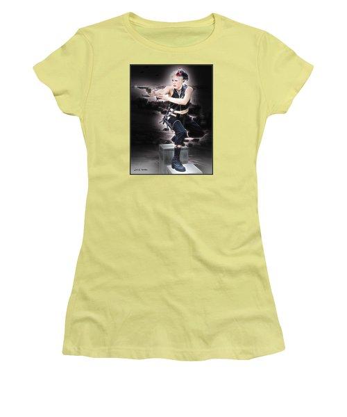 Storming The Beach Women's T-Shirt (Junior Cut)