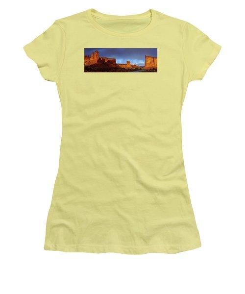 Women's T-Shirt (Junior Cut) featuring the photograph Stormy Desert by Chad Dutson