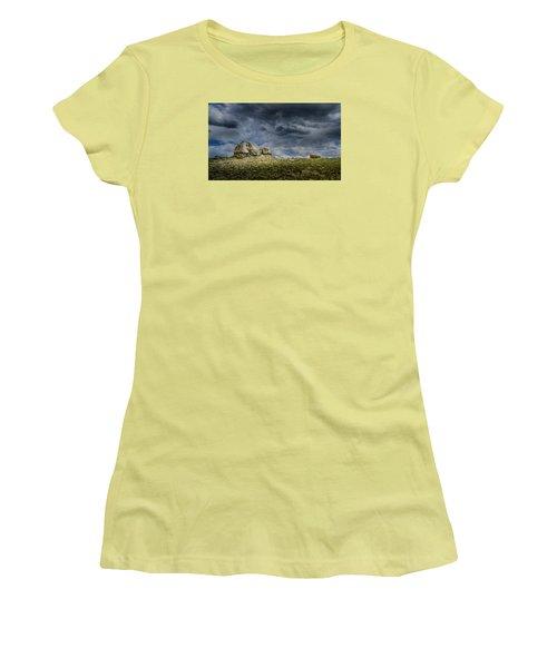 Stormy Peak 1 Women's T-Shirt (Junior Cut) by Mary Angelini
