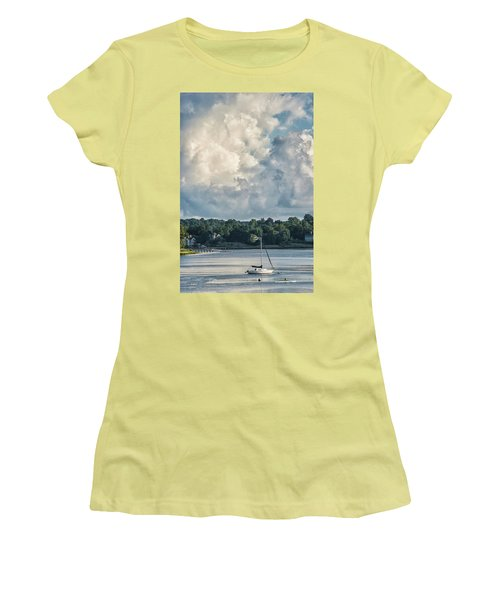 Stormy Sunday Morning On The Navesink River Women's T-Shirt (Junior Cut) by Gary Slawsky