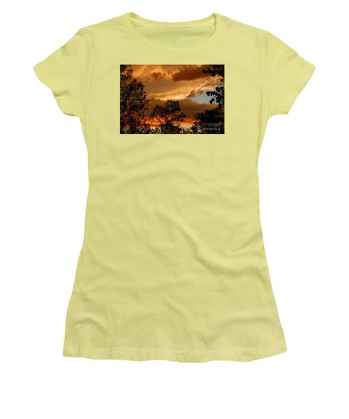 Stormy Sunset Women's T-Shirt (Junior Cut) by Marilyn Carlyle Greiner