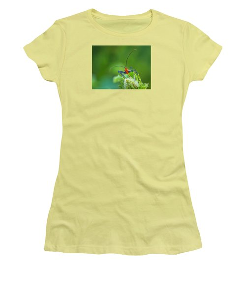 Straight In The Eye Look  Women's T-Shirt (Athletic Fit)