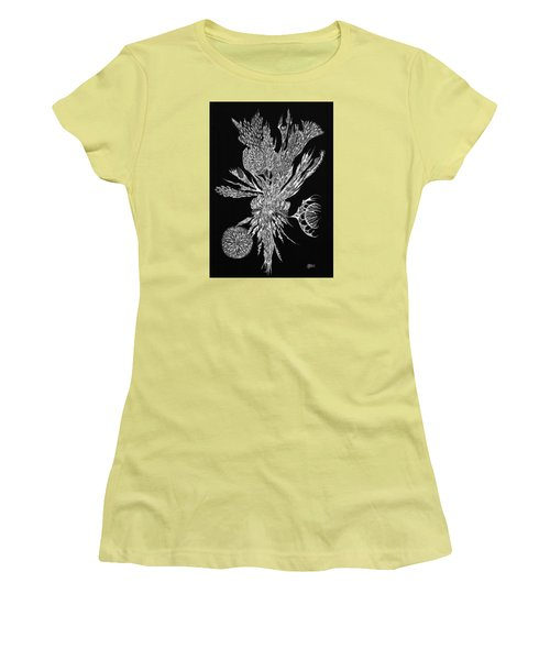 Bouquet Of Curiosity Women's T-Shirt (Junior Cut) by Charles Cater