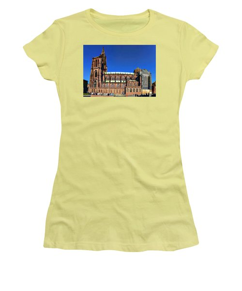 Women's T-Shirt (Junior Cut) featuring the photograph Strasbourg Catheral by Alan Toepfer