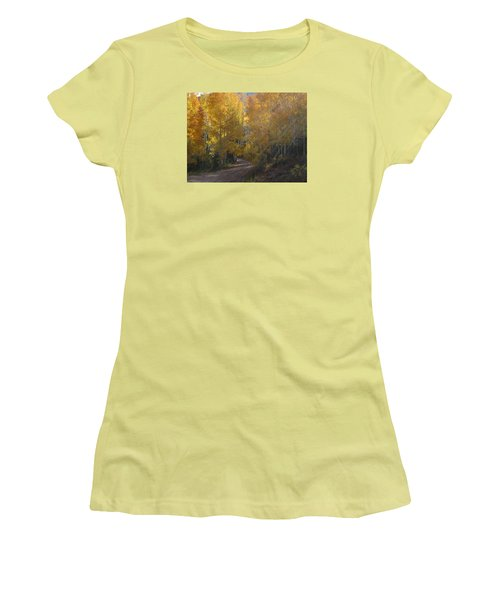 Streaming Light Paiute Trail Fremont Utah Women's T-Shirt (Junior Cut) by Deborah Moen