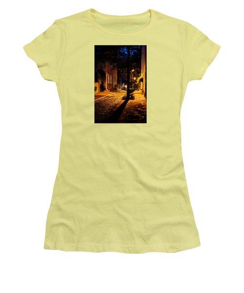 Street In Olde Town Philadelphia Women's T-Shirt (Junior Cut) by Mark Dodd