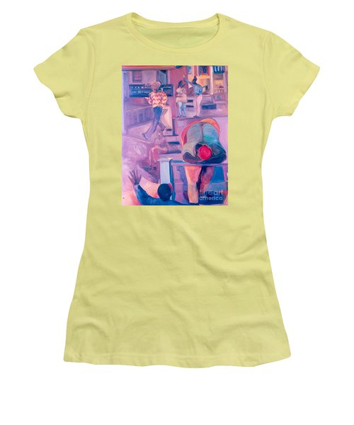 Street Scenes Women's T-Shirt (Junior Cut) by Daun Soden-Greene