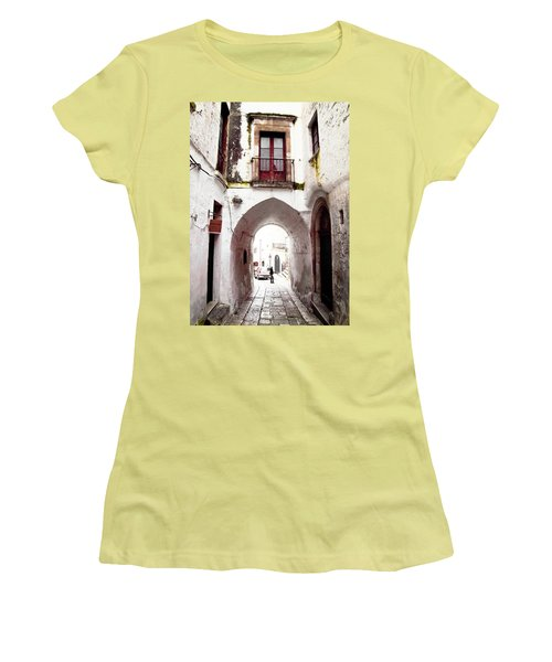 Streets Of Ostuni Women's T-Shirt (Athletic Fit)