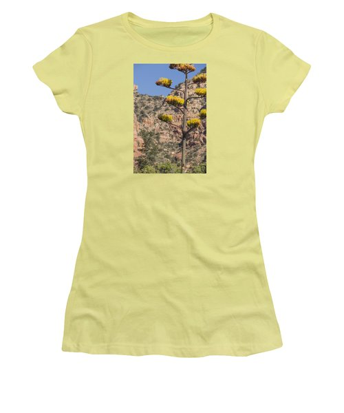 Stretching Tall Women's T-Shirt (Junior Cut) by Laura Pratt