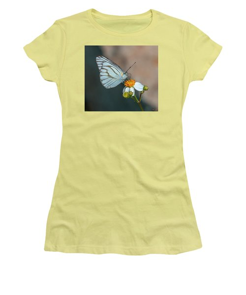 Striped Albatross Butterfly Dthn0209 Women's T-Shirt (Athletic Fit)