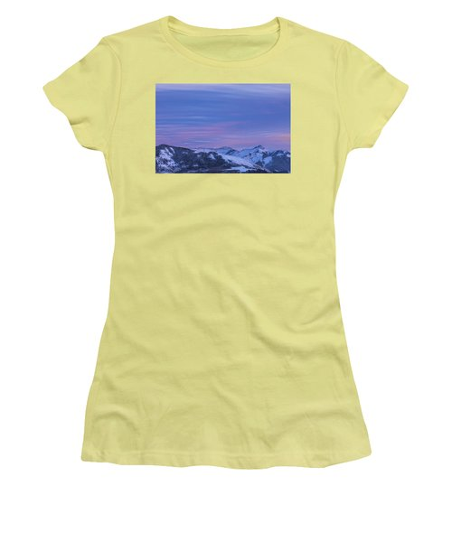 Striped Sky At Day's End Women's T-Shirt (Athletic Fit)