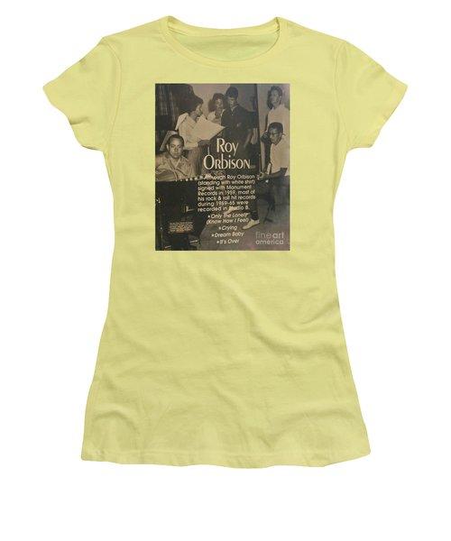 Studio B Roy Orbison  Women's T-Shirt (Junior Cut) by Chuck Kuhn