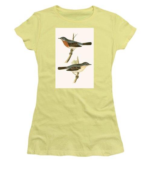 Sub Alpine Warbler Women's T-Shirt (Junior Cut) by English School