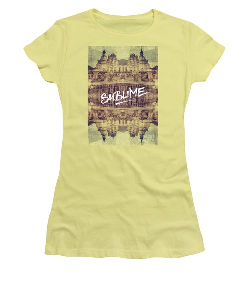 Sublime Fontainebleau Chateau France French Architecture Women's T-Shirt (Athletic Fit)