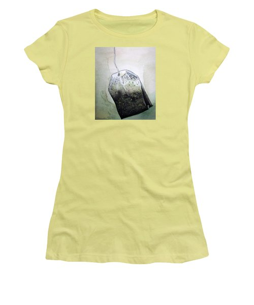Submerged Tea Bag Women's T-Shirt (Athletic Fit)