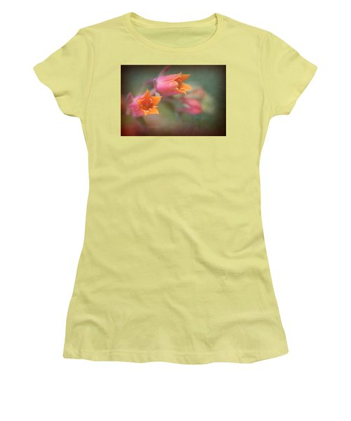 Women's T-Shirt (Junior Cut) featuring the photograph Succulent Flower by Catherine Lau