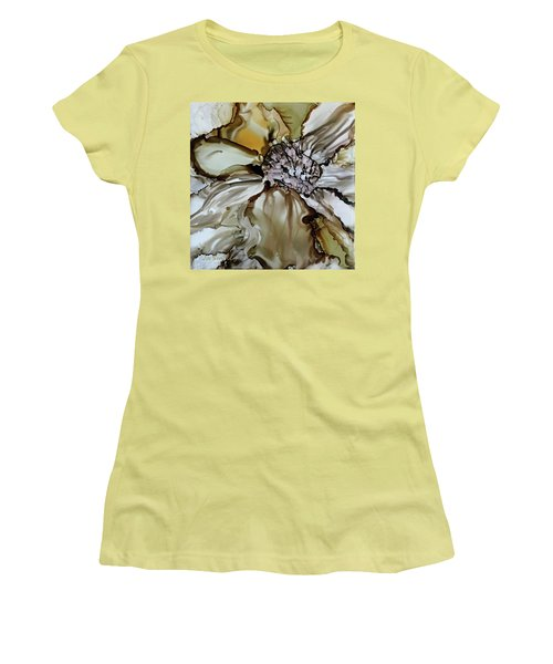 Women's T-Shirt (Junior Cut) featuring the painting Sultry Petals by Joanne Smoley