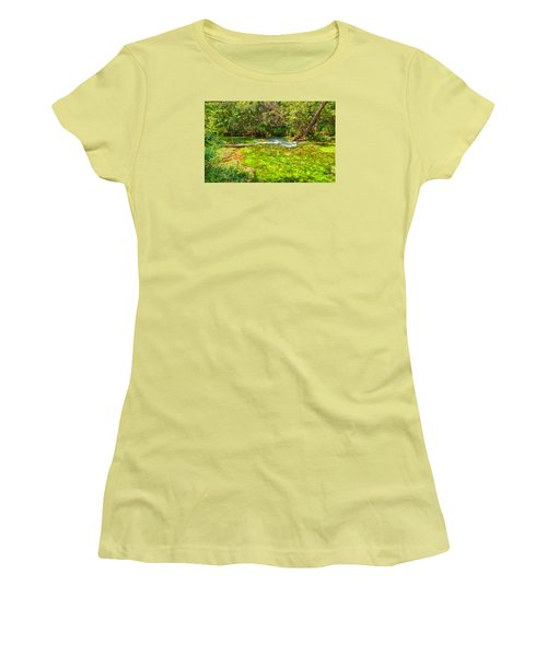 Women's T-Shirt (Junior Cut) featuring the photograph Summer At Alley Springs by John M Bailey