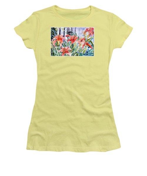 My Summer Day Liliies Women's T-Shirt (Junior Cut) by Mindy Newman