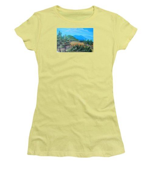 Summer Fields 2 Women's T-Shirt (Junior Cut) by Remegio Onia