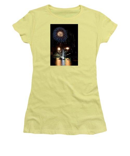 Summer Fireworks I Women's T-Shirt (Junior Cut) by Helen Northcott