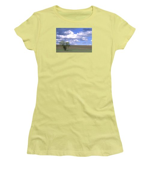 Summer Flack Tree Women's T-Shirt (Athletic Fit)