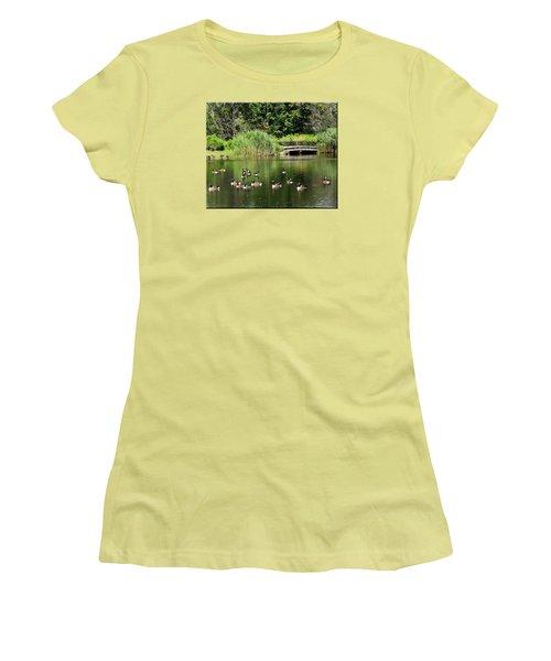Summer Fun Women's T-Shirt (Junior Cut) by Mikki Cucuzzo