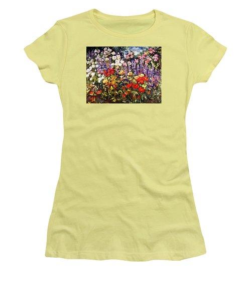 Summer Garden II Women's T-Shirt (Junior Cut) by Alexandra Maria Ethlyn Cheshire