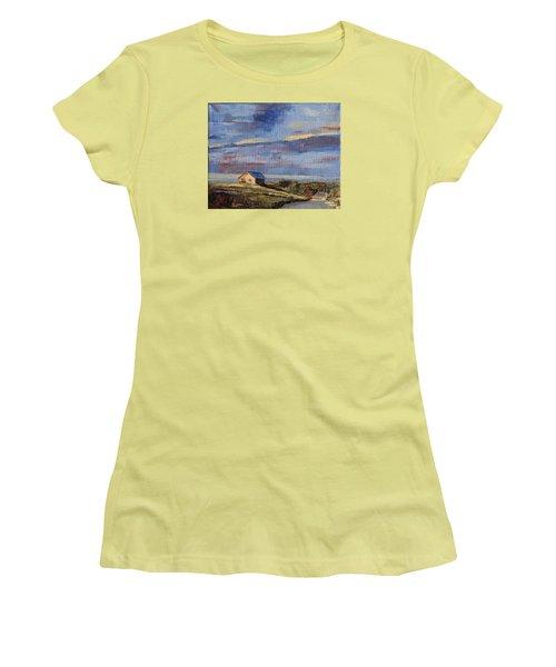Summer Glow Women's T-Shirt (Junior Cut) by Trina Teele
