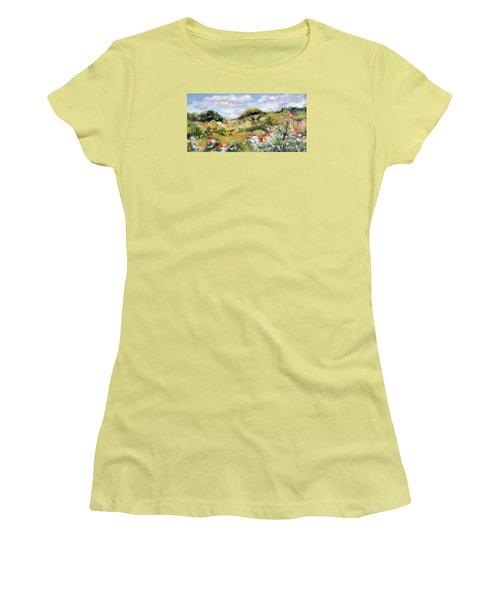 Summer Landscape Women's T-Shirt (Junior Cut) by Vali Irina Ciobanu
