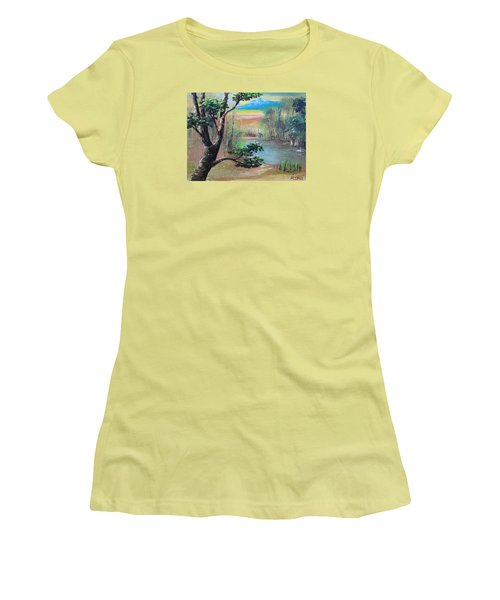 Summer Leaves Women's T-Shirt (Junior Cut) by Remegio Onia