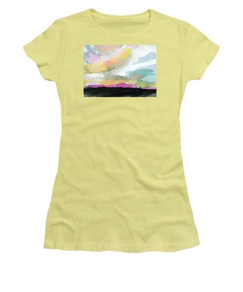 Women's T-Shirt (Junior Cut) featuring the painting Summer Monsoon by Ed Heaton