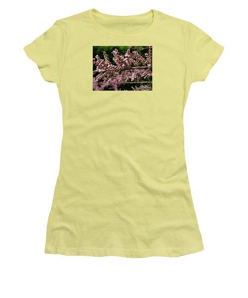 Women's T-Shirt (Junior Cut) featuring the photograph Summer Tamarisk 2 by Jean Bernard Roussilhe