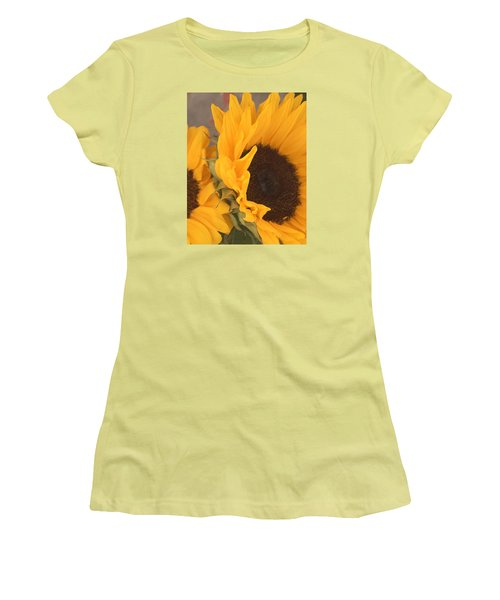 Sun Flower Women's T-Shirt (Athletic Fit)