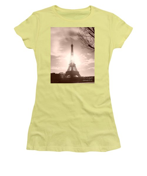 Sun In Paris Women's T-Shirt (Athletic Fit)