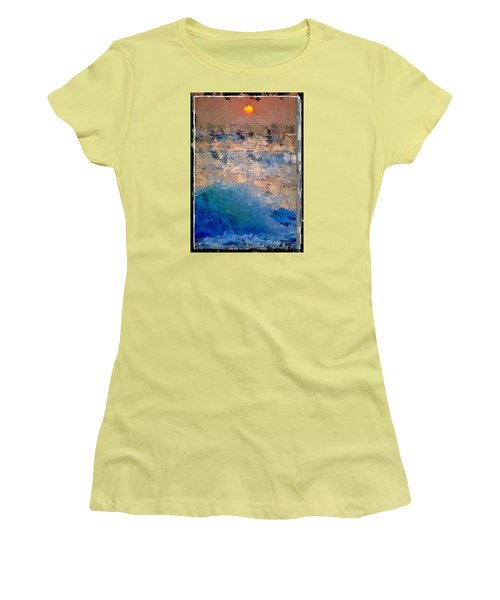 Women's T-Shirt (Junior Cut) featuring the digital art Sun Rays Abstract by Anthony Fishburne