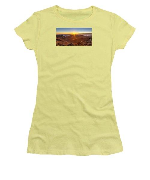 Sun Rising Mount Haleakala Women's T-Shirt (Junior Cut) by Pierre Leclerc Photography