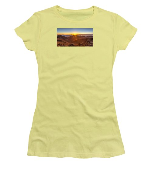 Sun Rising Mount Haleakala Women's T-Shirt (Athletic Fit)