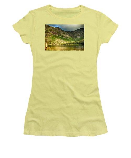 Sun Shining On Chimney Pond  Women's T-Shirt (Junior Cut) by Elizabeth Dow
