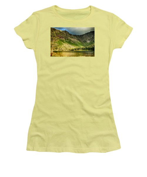 Sun Shining On Chimney Pond  Women's T-Shirt (Athletic Fit)