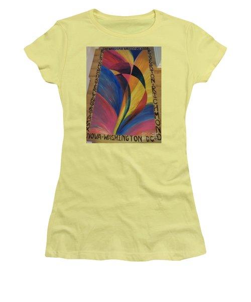 Sunburst Floorcloth Women's T-Shirt (Athletic Fit)