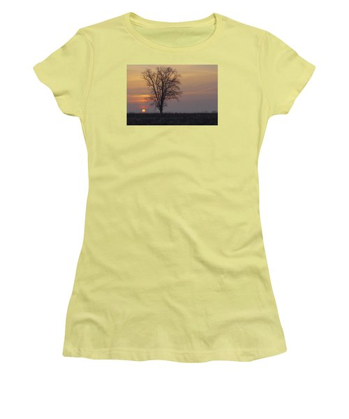 Sunday At Dawn Women's T-Shirt (Athletic Fit)