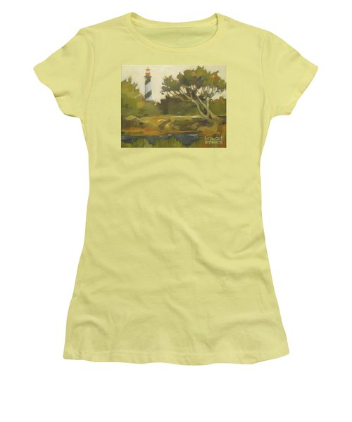 Sunday Lighthouse Women's T-Shirt (Junior Cut) by Mary Hubley