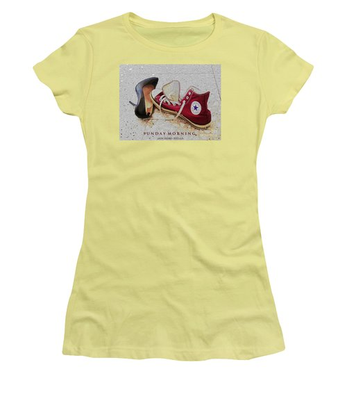 Women's T-Shirt (Junior Cut) featuring the photograph Sunday Morning by Don Pedro De Gracia