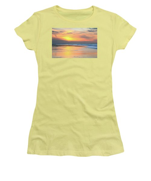 Sundown At Race Point Beach Women's T-Shirt (Junior Cut) by Roupen  Baker